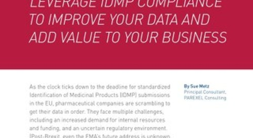 Leverage IDMP Compliance To Improve Your Data And Add Value