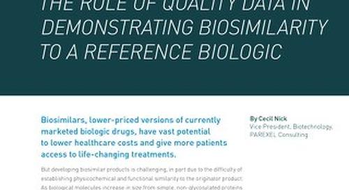 Quality Data For Demonstrating Biosimilarity