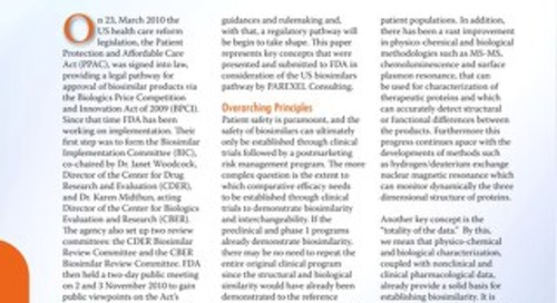 Key Considerations In US Biosimilars Development