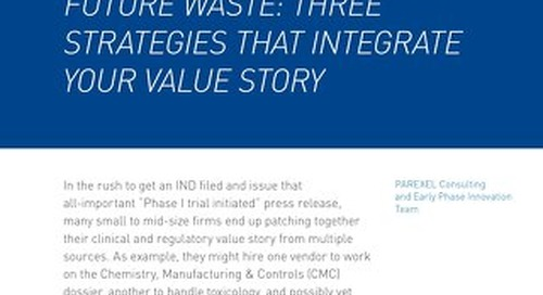 Early Stage Haste Creates Future Waste