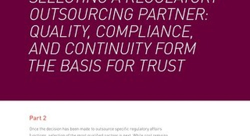 Selecting A Regulatory Outsourcing Partner