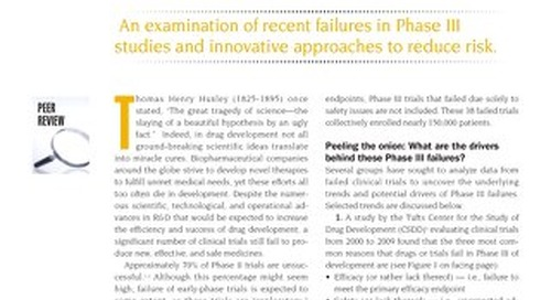 Phase III Trial Failures: Costly But Preventable