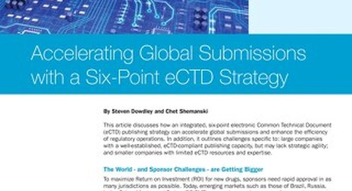 Accelerating Global Submissions With An eCTD Strategy