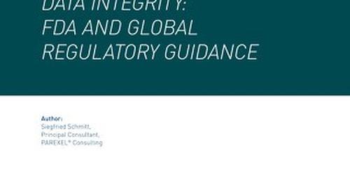 Regulatory Handbook: Data Integrity: FDA And Global Regulatory Guidance