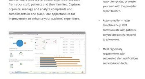 Improve patient experience & service recovery