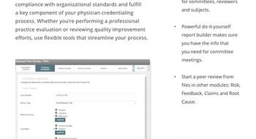 Conduct and manage peer reviews easily