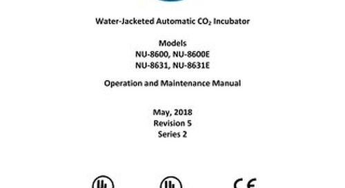 [Manual] In-VitroCell NU-8600 Series Water Jacket CO2 Incubator
