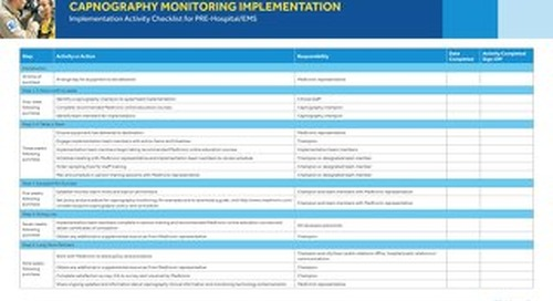 Capnography Monitoring Implementation Checklist for PRE-Hospital/EMS