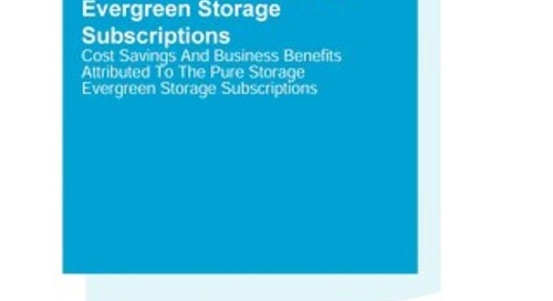 The Total Economic Impact of Pure Storage Evergreen
