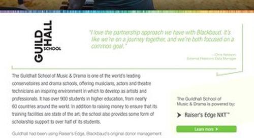 Guildhall School of Music and Drama | Raiser's Edge NXT