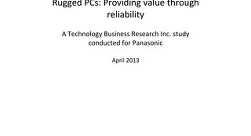 Panasonic Case Study: Toughbook Rugged Quality
