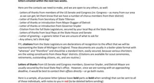 Community Chorus of Detroit - Letter to Committee