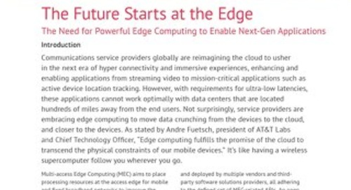The Future Starts at the Edge:  MEC Whitepaper