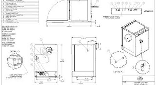 [Drawing] NU-8600 CO2 Incubator