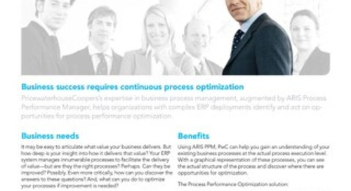 Process optimization with PwC