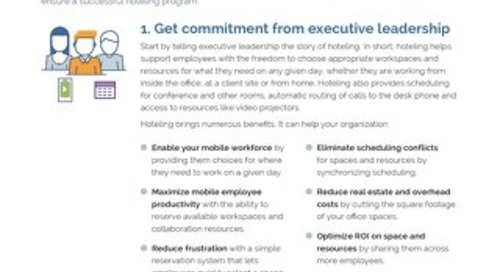5 Keys to a Successful Office Hoteling Plan