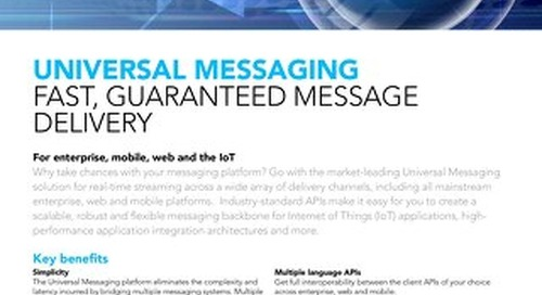 Facts about Universal Messaging
