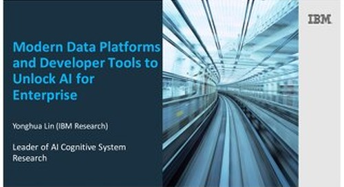 Modern Data Platforms and Developer Tools to Unlock AI for Enterprise
