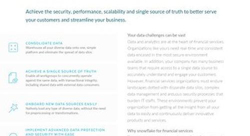Snowflake Financial Service Solution Brief