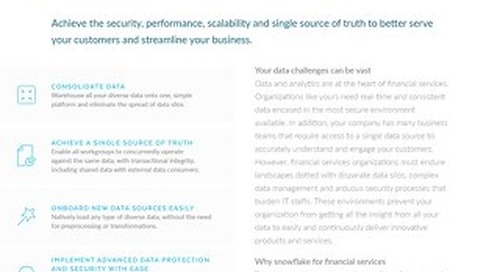 Snowflake Financial Service Solution Brief