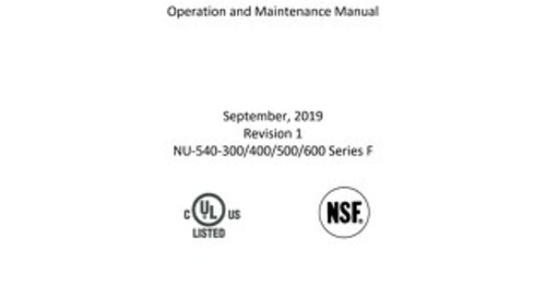 [Manual] LabGard ES NU-540 Series 5 Class II, Type A2 Biosafety Cabinet