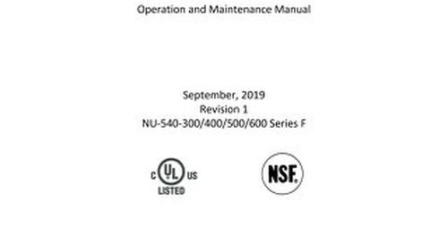 [Manual] LabGard ES NU-540 Series F Class II, Type A2 Biosafety Cabinet