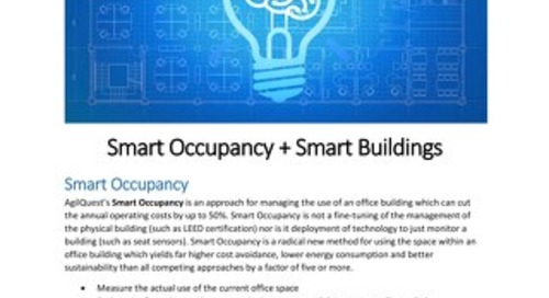 Smart Occupancy + Smart Buildings Workplace Strategy