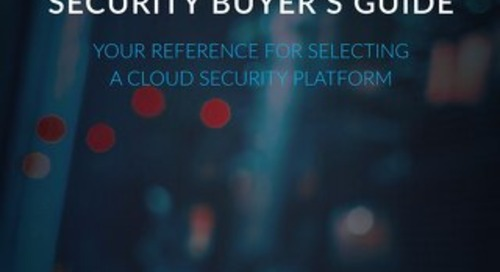 Cloud Infrastructure Security Buyer's Guide