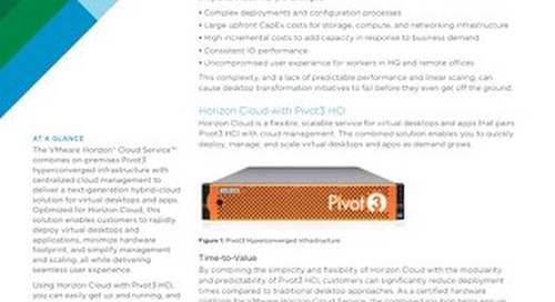 [Solution Brief] VMware Horizon Cloud with with Pivot3 HCI Overview