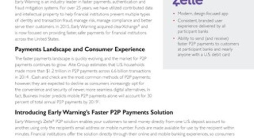 Zelle P2P Product Brief