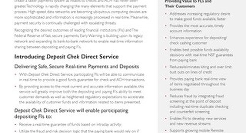 Deposit Chek Direct Product Brief