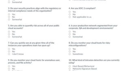 Cloud Security Assessment Worksheet