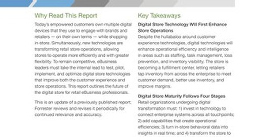 Analyst Report - Forrester Research - The Future of the Digital Store, 2017