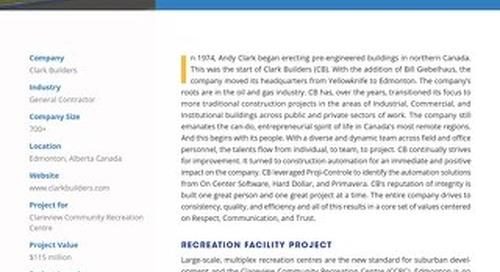 Clark Builders' Massive, Multi-Purpose Recreation Facility