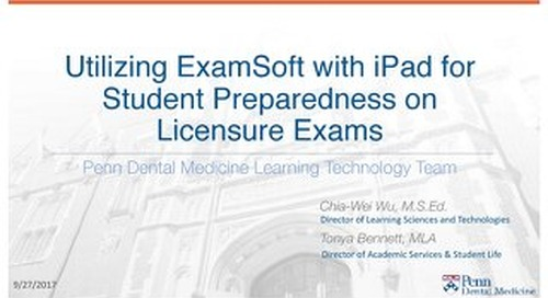 Utilizing ExamSoft with iPad for Student Preparedness on Licensure Exams