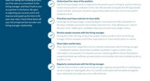 Better Relationships With Hiring Managers Checklist