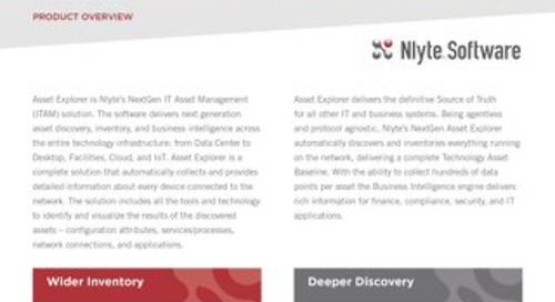 Nlyte Asset Explorer Overview 8.18 FINAL