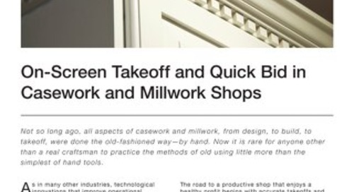 Takeoff and Estimating for Casework and Millwork Shops
