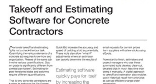 Takeoff and Estimating for Concrete Contractors
