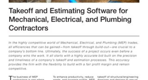 Takeoff and Estimating for Mechanical, Electrical, and Plumbing Contractors