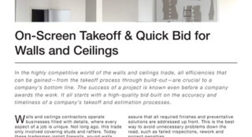 Takeoff and Estimating for Walls & Ceilings Contractors