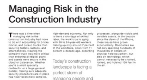 Managing Risk in the Construction Industry