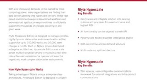 Nlyte Hyperscale Product Overview