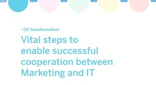 White paper: Vital steps to enable successful cooperation between Marketing and IT