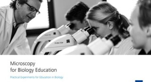 Microscopy tutorials for biology courses