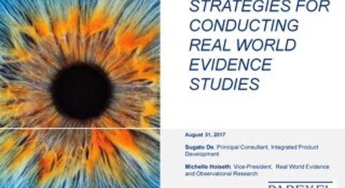 PAREXEL Strategies for Conducting Real World Evidence Studies
