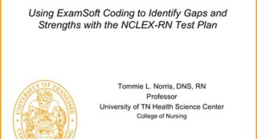 Using ExamSoft Coding to Identify Gaps and Strengths with the NCLEX-RN Test Plan