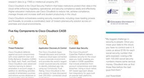 Cisco Cloudlock Advantage for Education