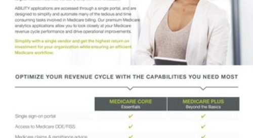 ABILITY Medicare RCM Bundles for Acute Care, Home Health and Hospice Providers