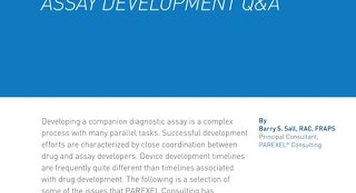 Companion Diagnositc Array Development Q & A